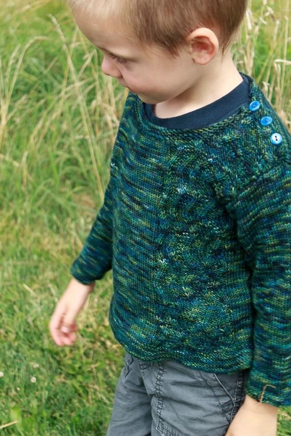 Zig Zag Sweater: Knitting Pattern / Baby and Toddler Sweater Knitting Pattern / Boys and Girls Knitting Pattern