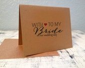 Bride card - personalized thank you card with wedding date