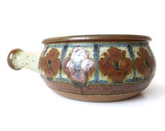 Vintage // Marianne Starck // Michael Andersen // Stoneware bowl with handle // Danish ceramic // Danish modern // Denmark
