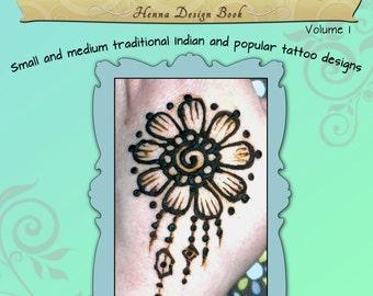 Henna Design Book PDF Download - Flights of Fantasy -Vol.1 - Small and medium traditional henna and popular tattoo designs