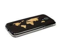 Samsung Galaxy S4 Case Wood World Map Inlay Wenge Maple, Samsung S4 Case, Wood Samsung Galaxy, Samsung S4 Wood Case, S4 Cover Wood Galaxy S4