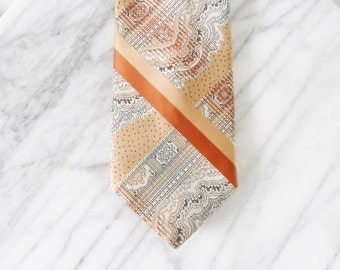 CLEARANCE. Vintage Damon Pastel Stitched Tie