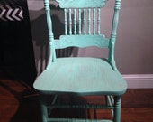 Mint Green Lightly Distressed Chair