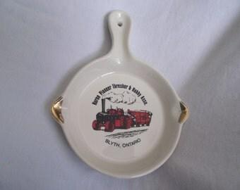 Vintage Souvenir,Souvenir Ashtray,Ontario Canada Souvenir,Blyth Ontario,Canada Souvenir,Huron Pioneer Thresher Assn.