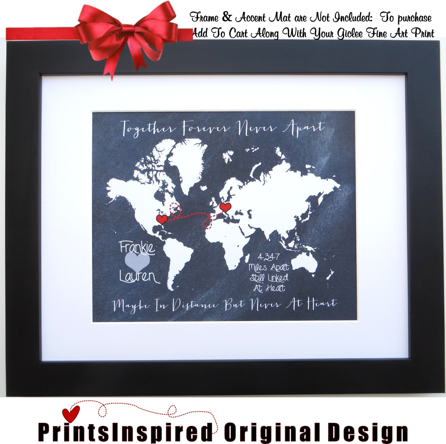 long distance relationship personalized gift by