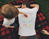M, Car Play Shirt, Christmas Gift for Dad, Stocking Stuffers for men, Grandpa Gift, Dad Gift, Play Mat Shirt, Back Massage Road Map Shirt