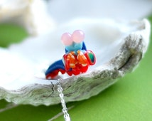 Mantis Shrimp Necklace, Stomatopoda marine biology jewelry