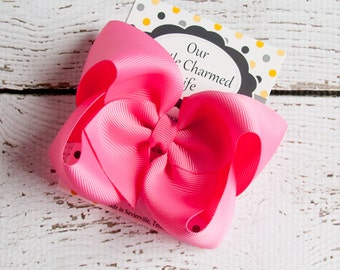 Hot Pink Hair Bow, Pink Hairbow, Boutique Hair Bow, Pink Bow, Pink Hair Clip, Baby Hair Bow, Infant Hair Bow, Bows for Girls, Hot Pink Bow
