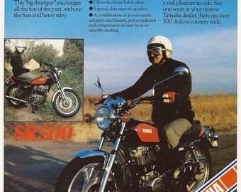 Yamaha Motorcycle Print 1978, Advertising Wall Art