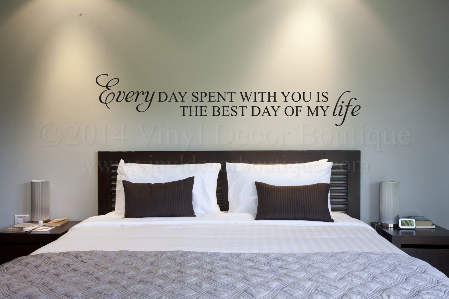 every day spent with you is the best day of my life vinyl wall decal for master bedroom vinyl lettering wall words wall quotes