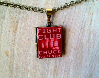 Fight Club - Chuck Palahniuk - Literary Locket - Book Cover Locket Necklace
