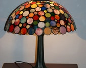 Colorful Tiffany Lamp,  Colorful Mosaic, Red Tiffany Lamp, Mosaic Lamp