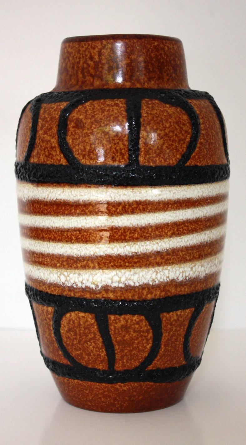 A vintage West German Scheurich Pottery Vase