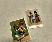 Antique Advertising Trade Cards, Clothing Tags. Victorian Paper Ephemera.
