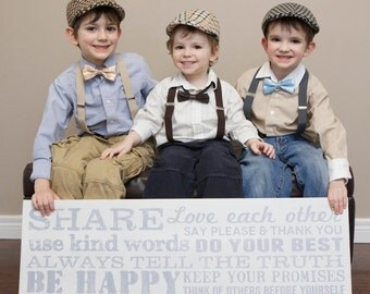 Boy's Wedding Accessories, Ring Bearer, Boys Wedding outfit, Newsboy Hat, Suspenders, Bow Tie (your choice) 3 piece set