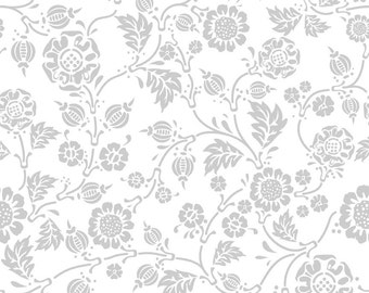 Vine Fabric from Rosecliff Manor by Emily Taylor for Riley Blake Designs C3922 Gray- 1/2 yard