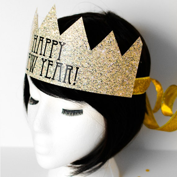 DIY New Years Eve Crowns - Two Styles - New Year's Eve Hat - Faux Glitter - DIY Party Hat - Happy New Year Decorations - Instant Download