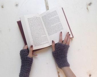 Fingerless mittens, crochet fingerless gloves fingerless mitts arm warmers wool -