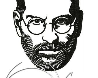 MACHINE EMBROIDERY FILE - Steve Jobs