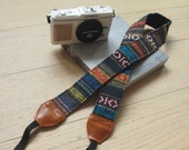 Vintage Woven Aztec Style Camera Strap (adjustable length)