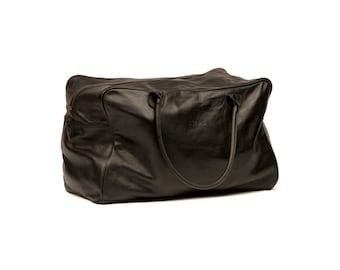 Week-end & Sports leather bag - Black