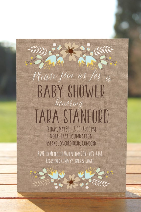 baby shower invitation burlap baby shower invite printable fall baby
