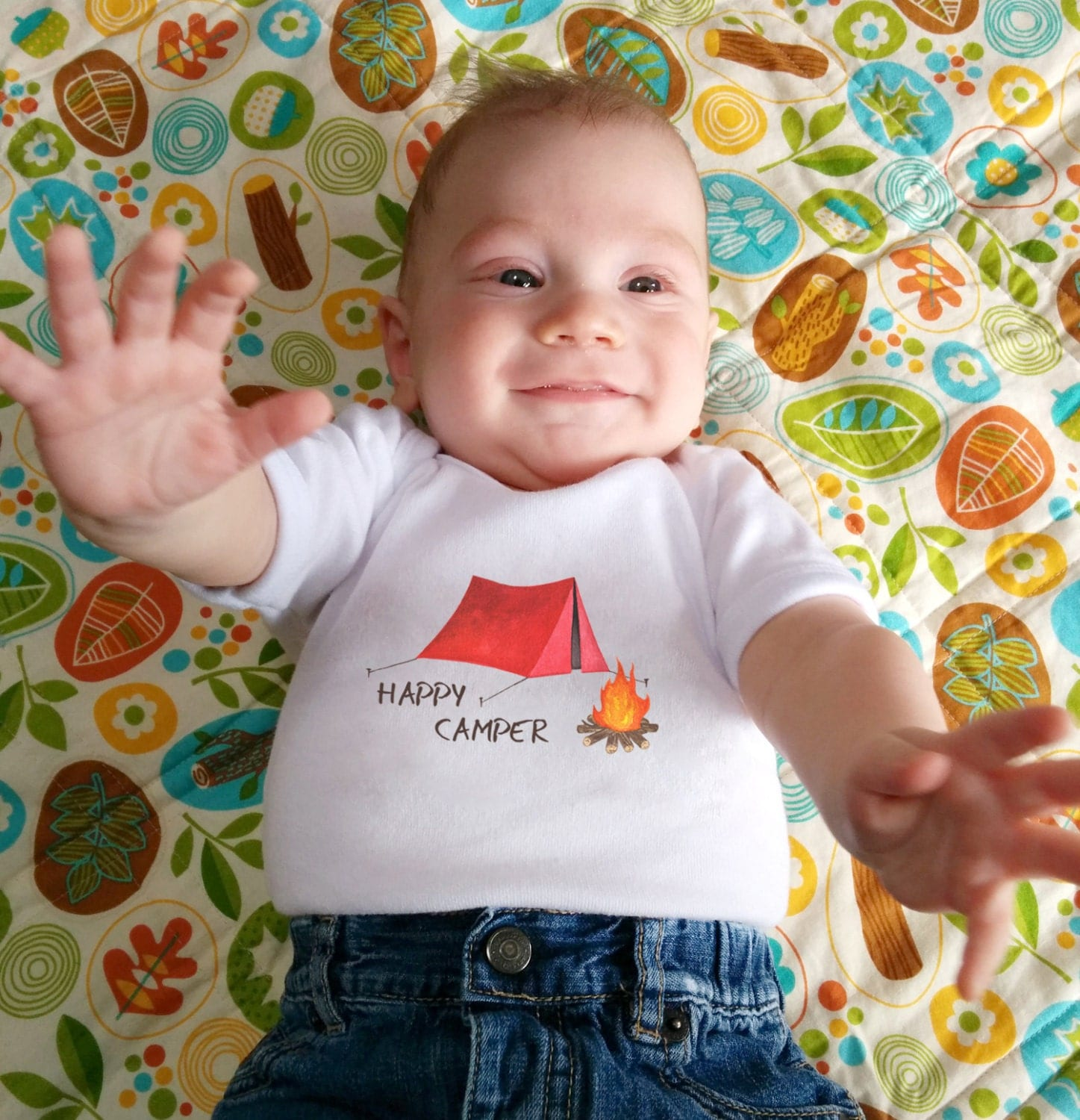 Cute Baby bodysuit Unique Baby clothes Camping baby shower