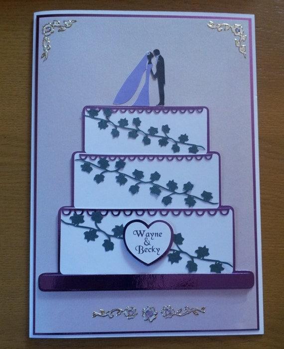 Design Your Own Wedding Cake: Items Similar To Create Your Own Wedding Cake Easel Card