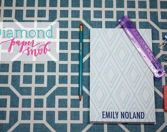 Custom Notepad - Personalized Diamond Pattern Notepad