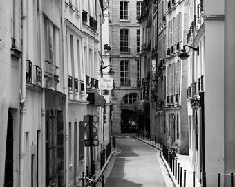 Paris black and white photography, Paris street view, Paris photography, black and white photo, Paris architecture, fine art print