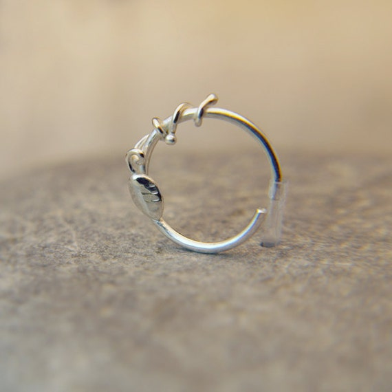 Delicate Nose Ring customize Gauge and diameter sterling silver nose ring piercing jewelry 100% handcrafted by PICOLANE