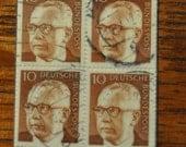 1970 German Gustav Heinemann Stamp Bookmark