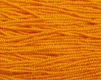 8/0 Opaque Light Orange Czech Glass Seed Bead Strand (CW21)