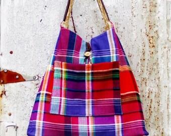 Sunday Plaid handbag