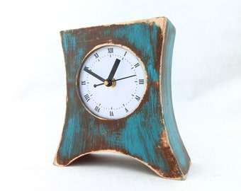 Turquoise Home Decor Accessories desk clock turquoise | etsy