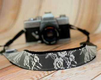 Lace Camera Strap - DSLR Camera Strap - Padded Camera Strap - Nikon Camera Strap - Canon Strap - Sony - Photographer Gift - Champagne Lace
