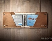 Thin Leather Wallet, Mens Leather Wallet, Minimal Wallet, Thin wallet, front pocket wallet, slim wallet  012