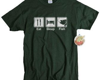 Fly Fishing Eat sleep fish funny fishing t shirt fishing outdoors fly fishing gift tshirt anniversary gift fisherman tee shirt husband