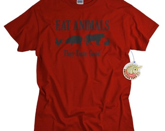 BBQ Shirt Barbecue T shirt for Men Eat Animals They Taste Good BBQ gift for him barbecue gifts