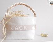 Personalized Easter Basket - Small, Large - Boy Girl - Monogram Name - Egg Hunt, Spring Home Decor, Decoration - 14 Colors (Natural Shown)