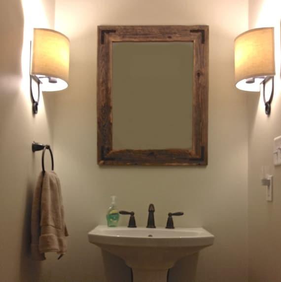 Like This Item 24x30 Reclaimed Wood Bathroom Mirror Rustic Modern Home