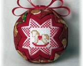 Quilted Keepsake Ornament - Baby's 1st Christmas / Rocking Horse
