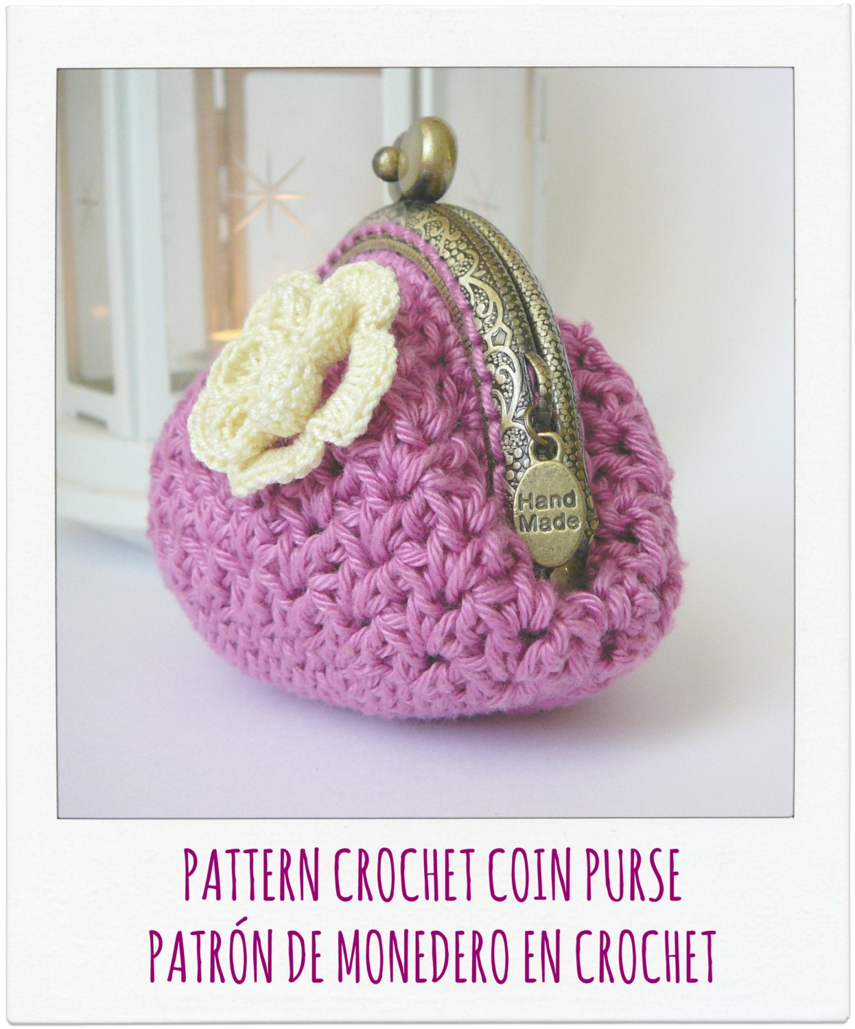Coin Purse Crochet Pattern : PATTERN Crochet Coin Purse Model n? 6 by PitusasyPetetes on Etsy