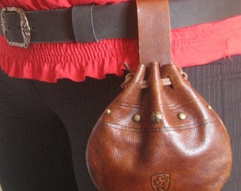 Medieval Celtic Leather Belt Pouch