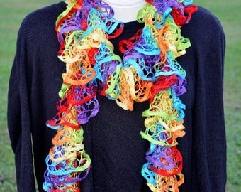 Hand Knitted Lacey Scarf