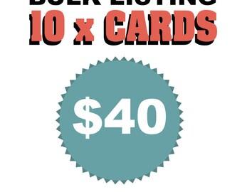 Bulk card discount - 10 cards