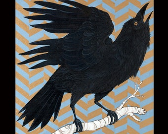 Clarion Call Crow Print