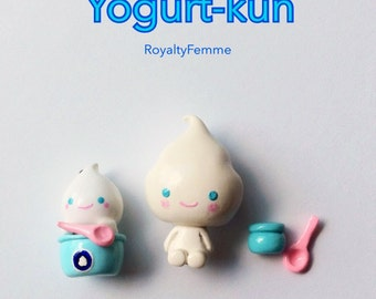 San-X Yogurtkun, Yogurt-kun Polymer Clay Charms Figurines, San-X Charms, Handmade, Planner Charm, Kawaii Charms