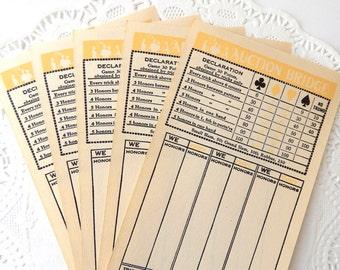 Vintage Bridge Tallies. Vintage Ephemera. Journal Supply. Junk Journal Paper. Scrapbook Supply. Vintage Paper Pack. Game Pieces. Card Games.