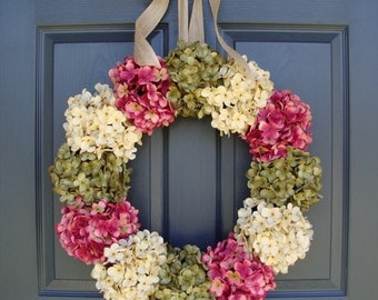 front door decor summerHydrangea Wreaths Winter Wreath Wedding Wreaths Front